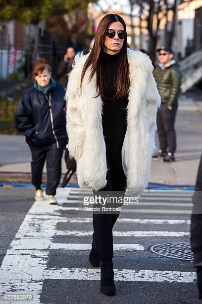 Sandra Bullock is seen on location for 'Ocean's Eight's 8' on December 3 2016 in New York City