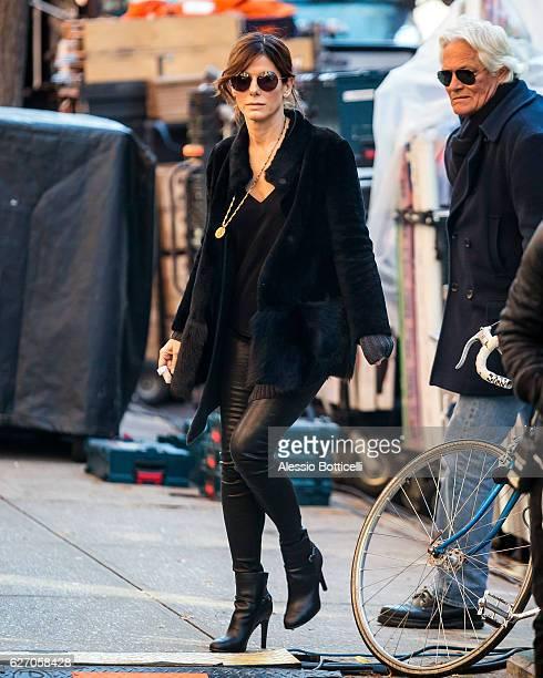 Sandra Bullock is seen on location of 'Ocean's Eight' on December 1 2016 in New York City
