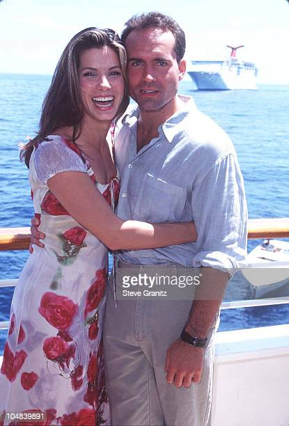 Sandra Bullock Jason Patric during Press Conference for Speed 2 at Seabourn Legend Boat in Catalina California United States