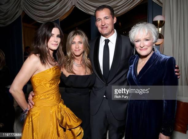 Sandra Bullock Jennifer Aniston Netflix Head of Original Films Scott Stuber and Glenn Close attend the Netflix 2020 Golden Globes After Party at The...