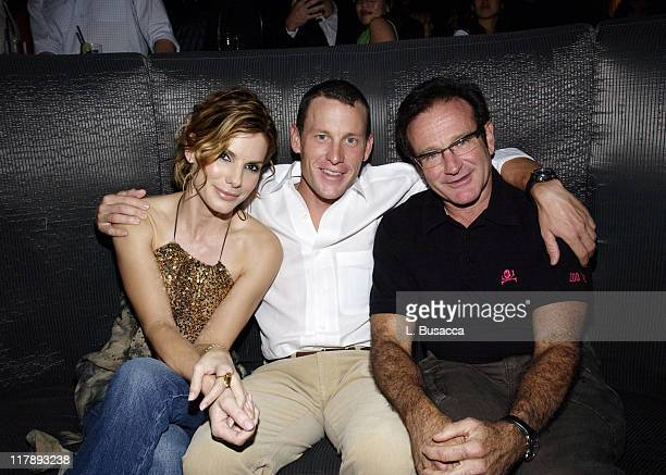Sandra Bullock Lance Armstrong and Robin Williams