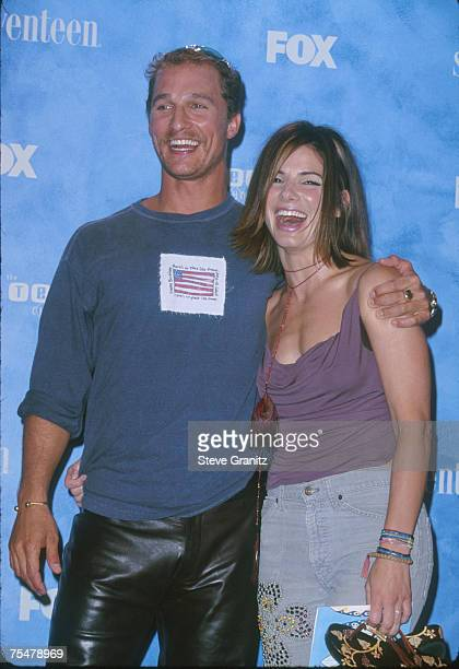 Sandra Bullock Matthew McConaughey at the Barker Hangar in Santa Monica California