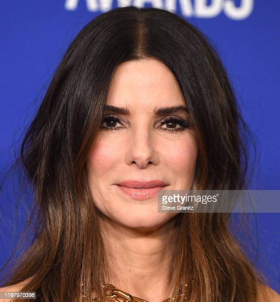 Sandra Bullock poses in the press room at the 77th Annual Golden Globe Awards at The Beverly Hilton Hotel on January 05 2020 in Beverly Hills...