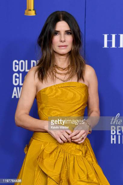 Sandra Bullock poses in the press room during the 77th Annual Golden Globe Awards at The Beverly Hilton Hotel on January 05, 2020 in Beverly Hills,...