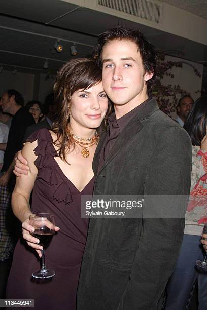 Sandra Bullock Ryan Gosling during After Party for 'Murder By Numbers' Premiere at Michael's in New York New York United States