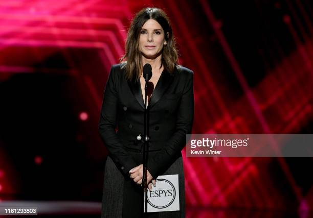 Sandra Bullock speaks onstage during The 2019 ESPYs at Microsoft Theater on July 10 2019 in Los Angeles California