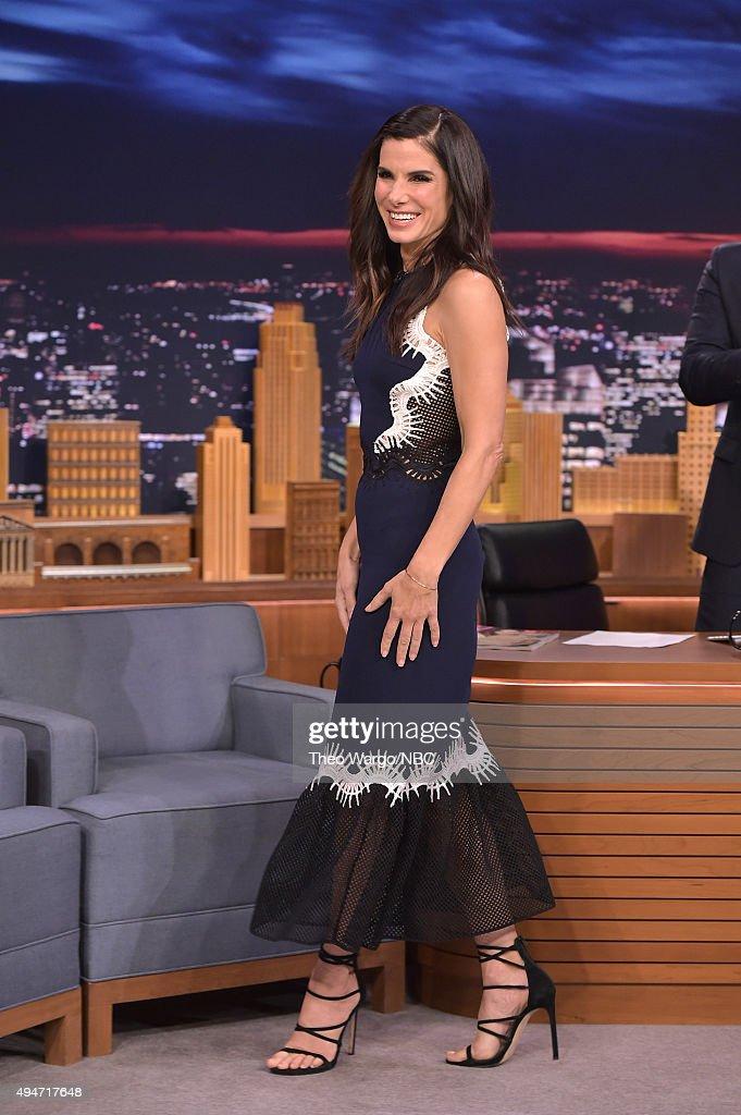 Sandra Bullock Visits 'The Tonight Show Starring Jimmy Fallon' at Rockefeller Center on October 28, 2015 in New York City.
