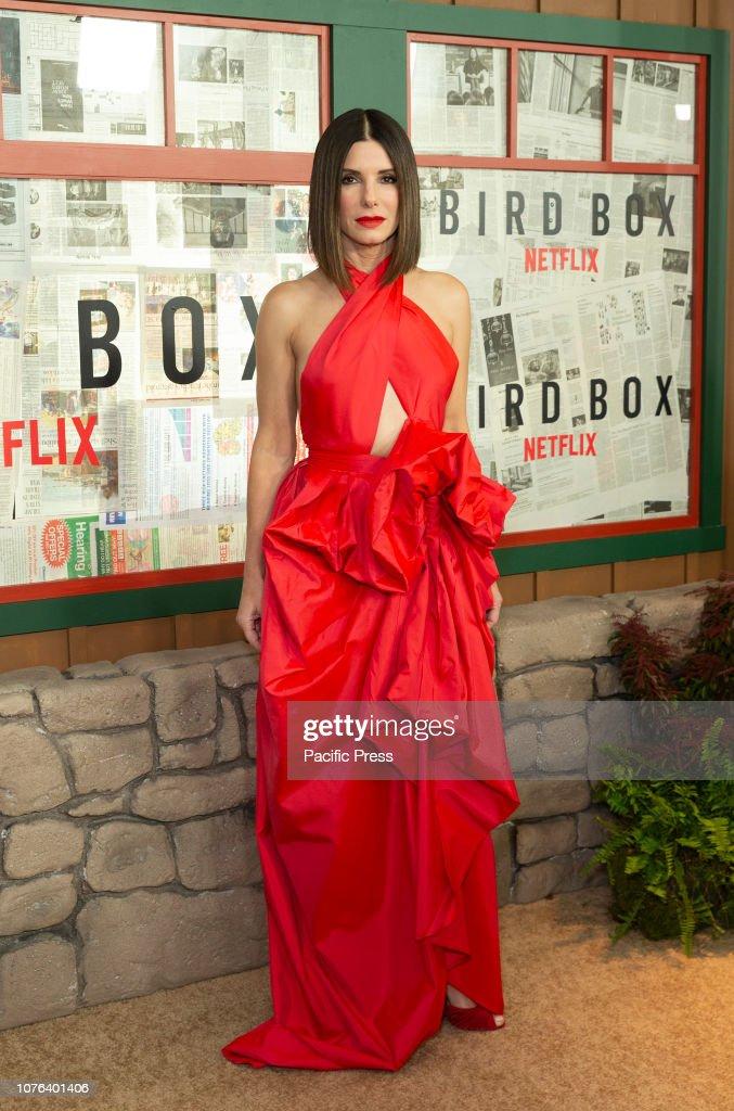 84a43f40df Sandra Bullock wearing dress by Martin Grant attends the New...   News Photo