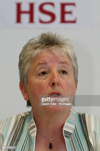 Sandra Caldwell Deputy Chief Executive of the Health and Safety Executive speaking at a news conference into the fatal Clostridium difficile...