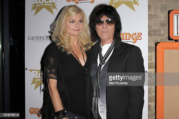 Sandra Cash and Jeff Beck attend The 'Classic Rock Roll of Honour' honouring rock's biggest icons at The Roundhouse on November 9 2011 in London...