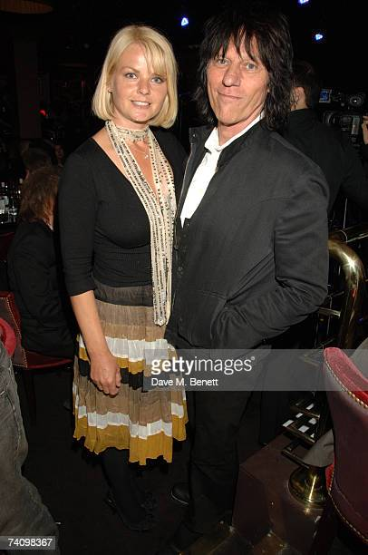 Sandra Cash and Jeff Beck attends the inaurgural Ronnie Scotts Jazz awards 2007 held at Ronnie Scotts Jazz Club on May 7 2007 in London United Kingdom