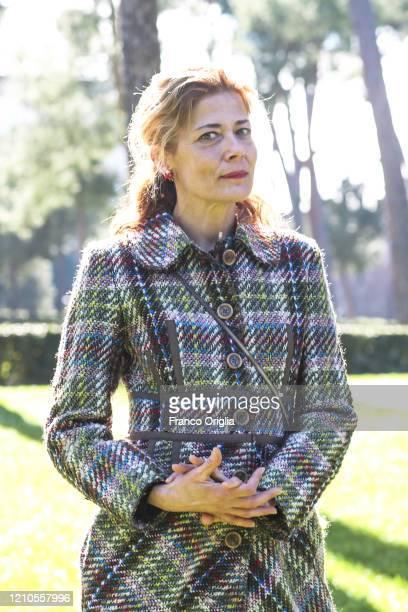Sandra Ceccarelli attends Gli Anni Amari photocall at the Casa del Cinema on March 05 2020 in Rome Italy