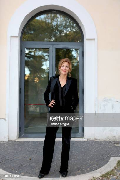 Sandra Ceccarelli attends the premiere of the movie Gli Anni Amari at Casa del Cinema on October 16 2019 in Rome Italy