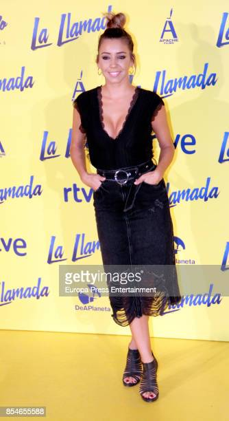 Sandra Cervera attends the 'La Llamada' premiere yellow carpet at the Capitol cinema on September 26 2017 in Madrid Spain