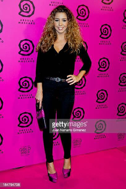 Sandra Cervera attends Ursula Mascaro opening store at Ursula Mascaro store on October 16 2013 in Madrid Spain