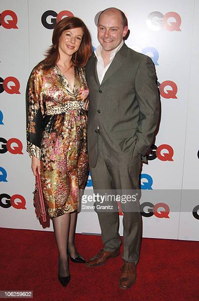 Sandra Corddry and Rob Corddry during GQ Man of the Year Awards Arrivals at Sunset Tower Hotel in Los Angeles California United States