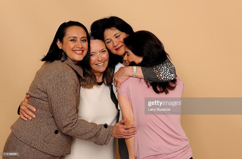 Sandra Coronel, Sarah De Mas, Tatat Cardona and Maisha Ortoll visit the Tribeca Film Festival 2011 portrait studio on April 25, 2011 in New York City.