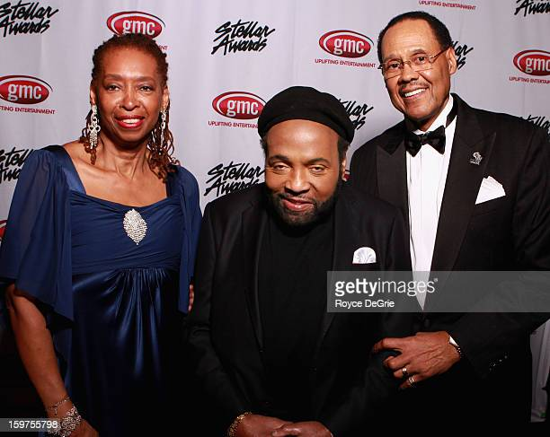 Sandra Crouch Andrae Crouch and Central City Productions President CEO Don Jackson attend the 28th Annual Stellar Awards at Grand Ole Opry House on...