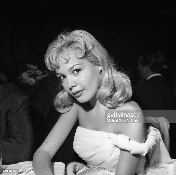 SEPTEMBER 23 Sandra Dee and other young stars of Paramount Pictures attend a party to celebrate newly minted star Bob Ivers and the release of their...