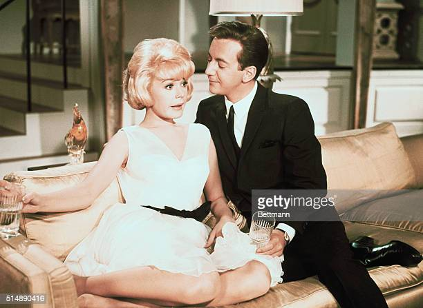 Sandra Dee as Joan Howell and Bobby Darin as Tom Milford in the 1965 romantic comedy That Funny Feeling Dee and Darin were married from 19601967...