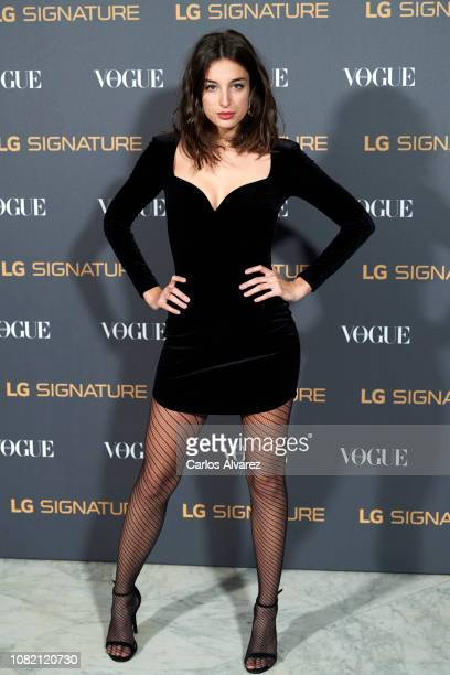 Sandra Delaporte attends 'Vogue LG Signature' photocall at Carlos Maria de Castro Palace on December 13 2018 in Madrid Spain