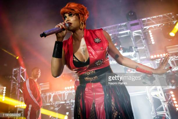 Sandra Denton aka Pepa of SaltNPepa performs during the NGV Gala 2019 at the National Gallery of Victoria on November 30 2019 in Melbourne Australia