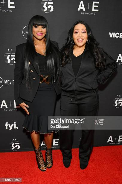 Sandra Denton and Cheryl James of SaltNPepa attend the 2019 AE Networks Upfront at Jazz at Lincoln Center on March 27 2019 in New York City