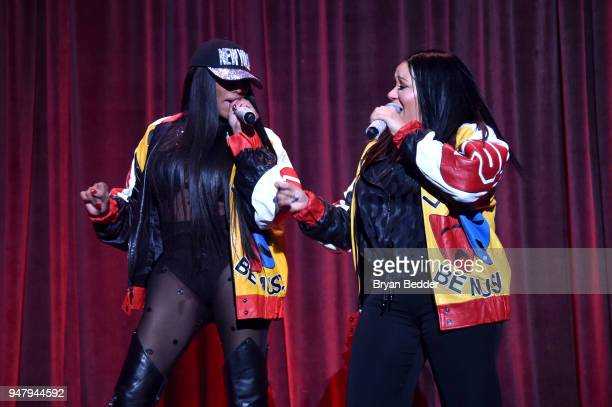 Sandra Denton and Cheryl James of SaltNPepa perform onstage during the Food Bank for New York City's Can Do Awards Dinner at Cipriani Wall Street on...