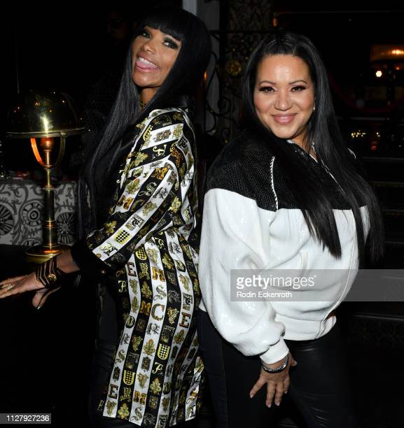 Sandra Denton and Cheryl James of SaltNPepa pose for portrait at the after party for the Los Angeles Premiere of HBO's Documentary Film United Skates...