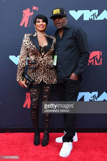 Sandra Denton from SaltNPepa and James Maynes arrive for the 2019 MTV Video Music Awards at the Prudential Center in Newark New Jersey on August 26...