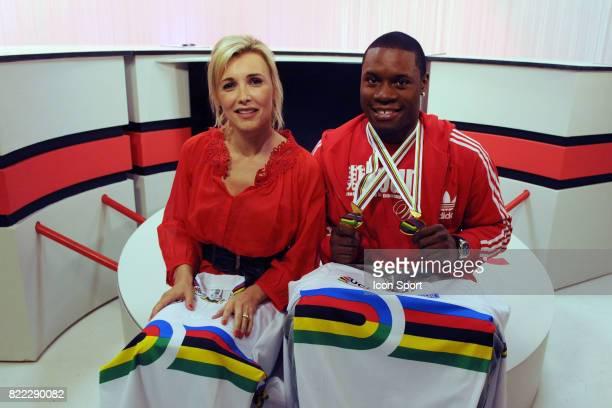 Sandra DESSANGE / Gregory BAUGE Double Medaille d or Vitesse individuelle et par equipe Studio Les dessous du Sport Paris