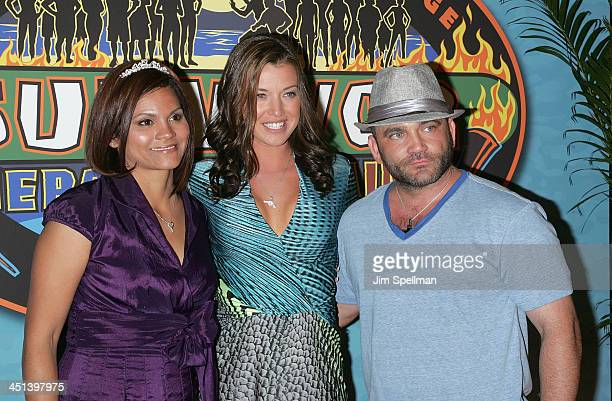 Sandra DiazTwine Parvati Shallow and Russell Hantz attend the Survivor Heroes Vs Villains finale reunion show at Ed Sullivan Theater on May 16 2010...
