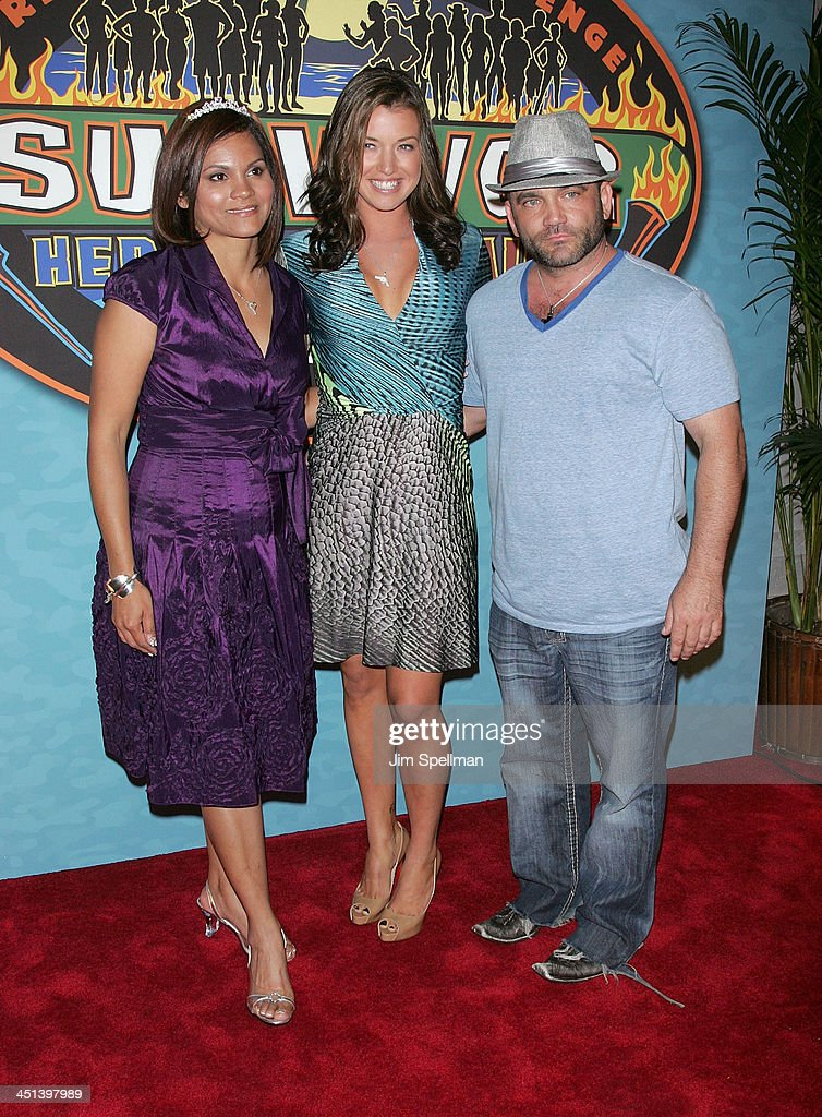 Sandra Diaz Twine Parvati Shallow And Russell Hantz Attend The Survivor Heroes Vs