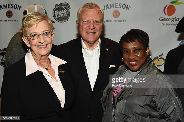 Sandra Dunagan Georgia Governor Nathan Deal and Karla Redding backstage during the 3rd Annual Jameson Irish Whiskey Presents Georgia On My Mind A...