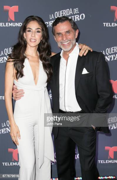 Sandra Echeverria and Humberto Zurita attend the Telemundo Screening Of La Querida Del Centauro on May 2 2017 in Coral Gables Florida