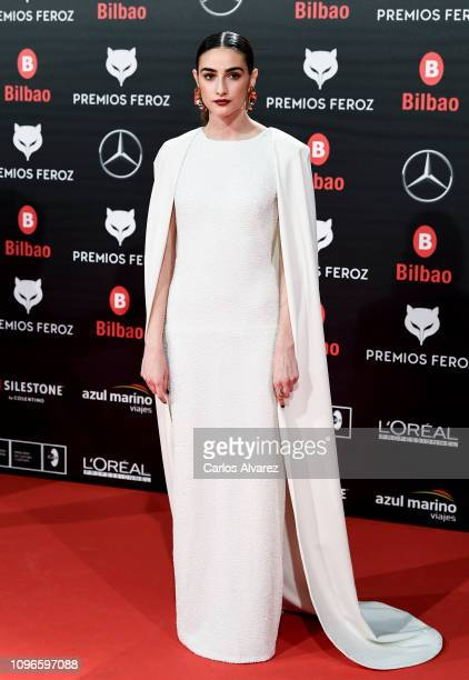 Sandra Escacena attends during Feroz awards red carpet on January 19 2019 in Bilbao Spain
