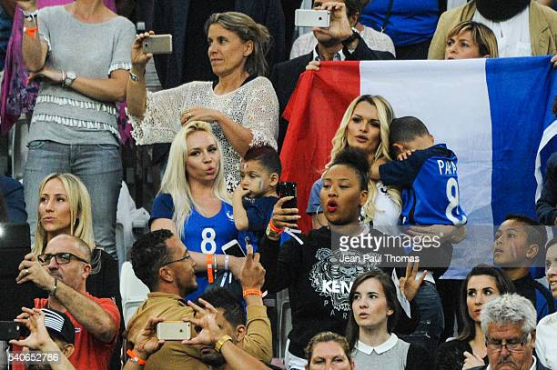 Sandra Evra and Ludivine Payet during the UEFA EURO 2016 Group A match between France and Albania at Stade Velodrome on June 15 2016 in Marseille...