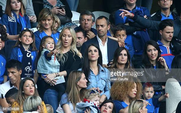 Sandra Evra wife of Patrice Evra and their daughter Maona Evra Ludivine Sagna wife of Bacary Sagna Marine Lloris wife of Hugo Lloris Jennifer Giroud...