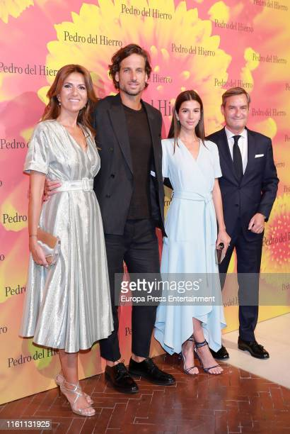 Sandra Gago and Feliciano Lopez attend the Pedro del Hierro fashion show during the Mercedes Benz Fashion Week Spring/Summer 2020 on July 09 2019 in...
