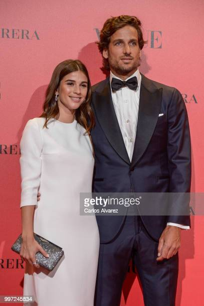 Sandra Gago and Feliciano Lopez attend Vogue 30th Anniversary Party at Casa Velazquez on July 12 2018 in Madrid Spain
