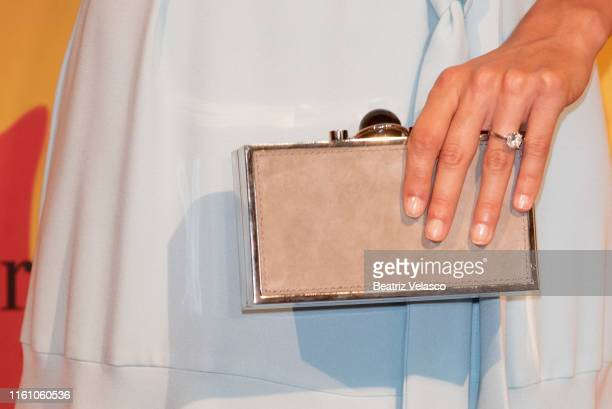 Sandra Gago attends Pedro del Hierro fashion show during the Mercedes Benz Fashion Week Spring/Summer 2020 on July 09 2019 in Madrid Spain
