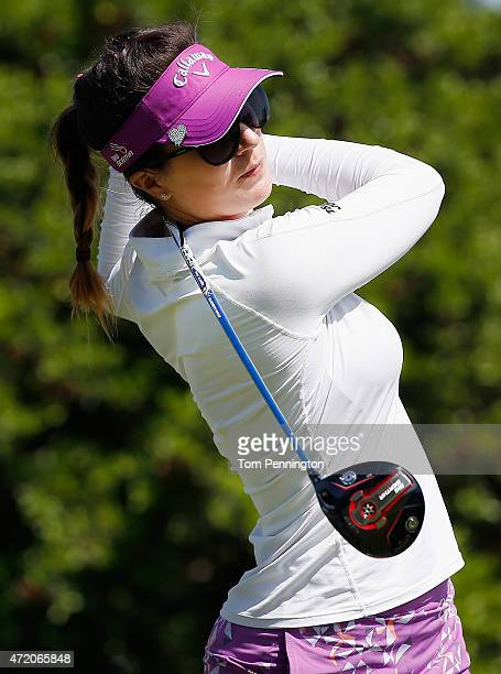 Sandra Gal of Germany hits a shot on the second hole during the Final Round of the 2015 Volunteers of America North Texas Shootout Presented by JTBC...