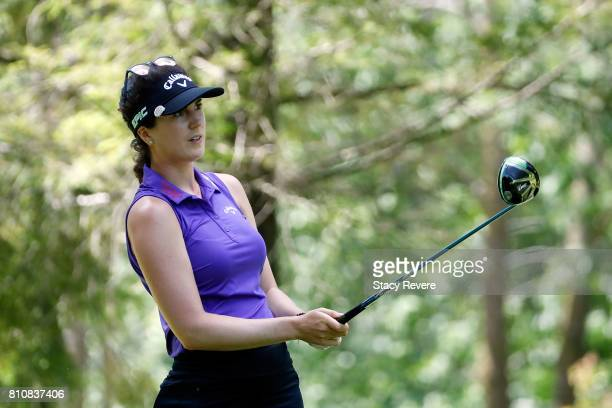 Sandra Gal of Germany hits her tee shot on the third hole during the third round of the Thornberry Creek LPGA Classic at Thornberry Creek at Oneida...