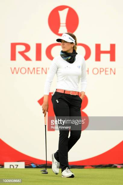 Sandra Gal of Germany looks on on 18th green during day one of Ricoh Women's British Open at Royal Lytham St Annes on August 2 2018 in Lytham St...
