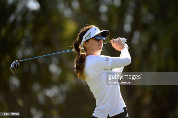 Sandra Gal of Germany makes a tee shot on the third hole during round one of the ANA Inspiration on the Dinah Shore Tournament Course at Mission...
