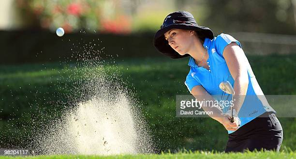 Sandra Gal of Germany on the 7th hole during the first round of the 2010 Kraft Nabisco Championship on the Dinah Shore Course at The Mission Hills...