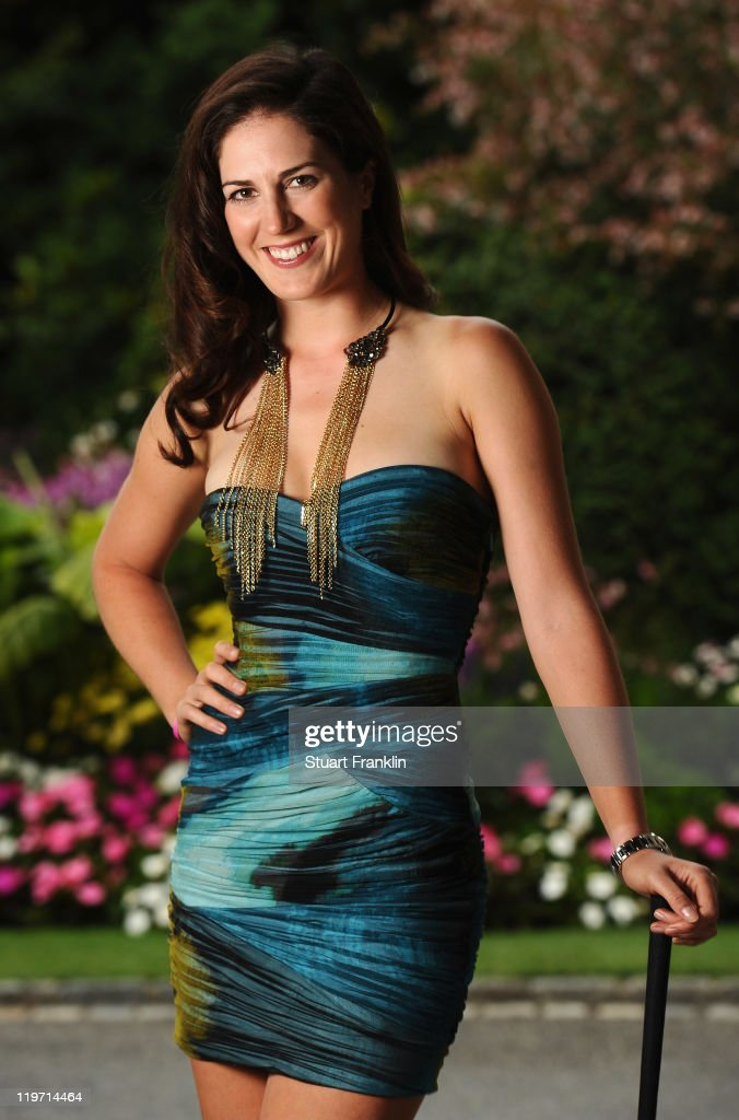 Sandra Gal of Germany poses for a picture at the gala dinner after the third round of the Evian Masters at the Evian Masters golf club on July 23, 2011 in Evian-les-Bains, France.