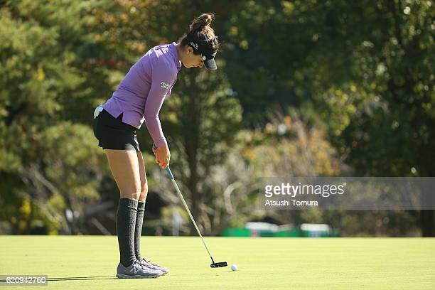Sandra Gal of Germany putts on the 3rd green during the first round of the TOTO Japan Classics 2016 at the Taiheiyo Club Minori Course on November 4...