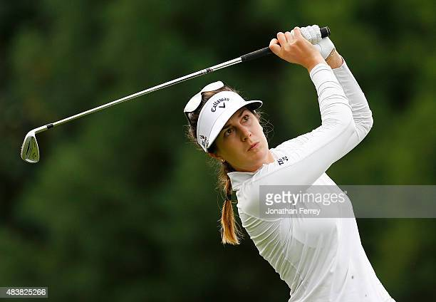 Sandra Gal of Germany tees off on the 2nd hole during the first round of the LPGA Cambia Portland Classic at Columbia Edgewater Country Club on...