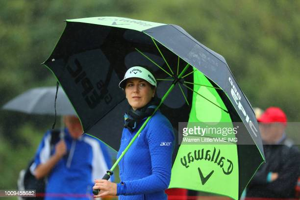 Sandra Gal of Germany walks down the 14th hole during the first round of the Ricoh Women's British Open at Royal Lytham St Annes on August 2 2018 in...